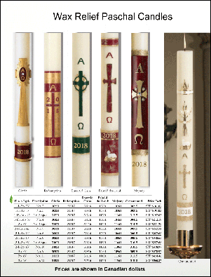 Wax Relief Paschal Candles P2