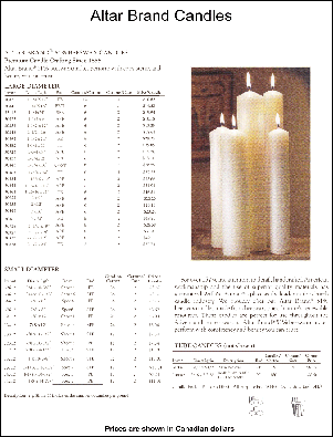 Altar Brand Candles