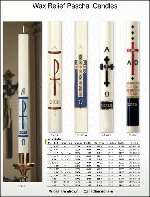 Wax Relief Paschal Candles P1